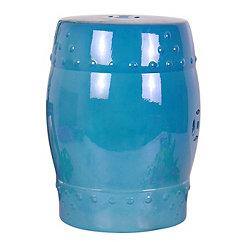 Blue Ceramic Garden Stool