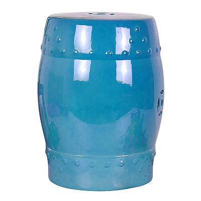 Blue Ceramic Garden Stool