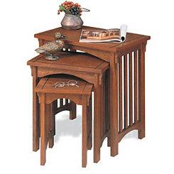 Mission Oak Nesting Tables, Set of 3