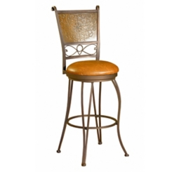 Muted Copper Stamped Bar Stool