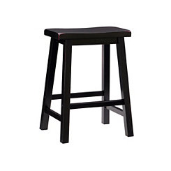 Antique Black Counter Stool