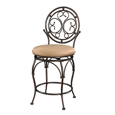 Scrolled Circle Back Metal Counter Stool