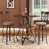 Hamilton 3 piece Pub Table and Stools Set