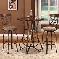 Hamilton 3-pc. Pub Table and Stools Set