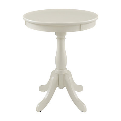 White Palmetto Side Table