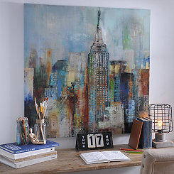 Blue Haze City Canvas Art Print