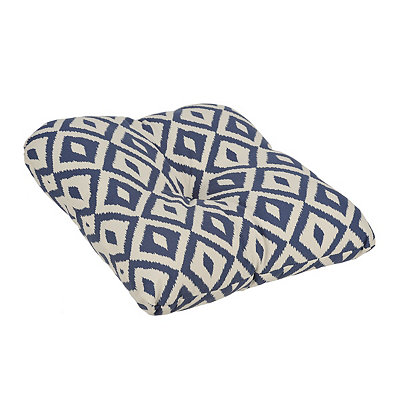 Blue Aztec Outdoor Cushion