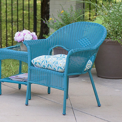 Teal Jaipur Peacock Outdoor Cushion