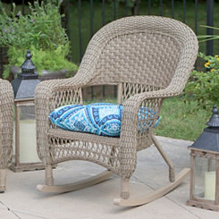 Spanish Tile Blue Outdoor Cushion