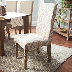 Raffia Ikat Parsons Chair