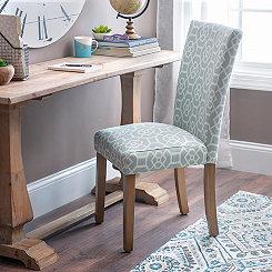 Aqua Tilework Parsons Chair