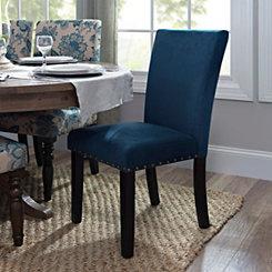 Deep Ocean Velvet Parsons Chair
