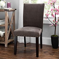 Espresso Velvet Parsons Chair