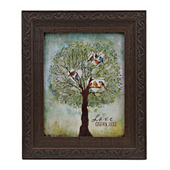Love Grows Here Jeweled Framed Art Print