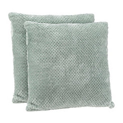 Roble Blue Plush Pillows, Set of 2