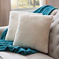 Roble Ivory Plush Pillows, Set of 2