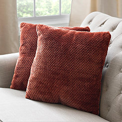 Roble Spice Plush Pillows, Set of 2