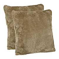 Roble Stone Plush Pillows, Set of 2