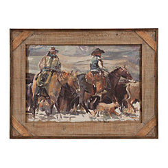 Riding Cowboys Framed Art Print