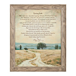 Living Life Quote Framed Art Print