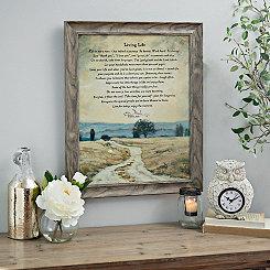 Living Life Quote Framed Art Print