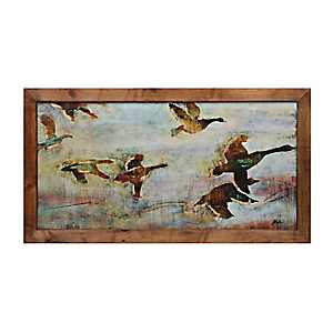 Fall Forecast Wood Framed Art Print