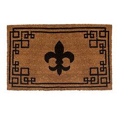 Greek Key Fleur-de-Lis Doormat