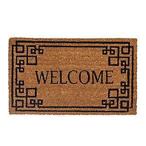 Greek Key Welcome Doormat