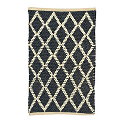 Navy Diamond Scatter Rug