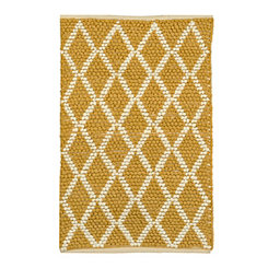 Yellow Diamond Scatter Rug
