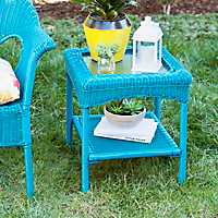 Turquoise Key West Side Table