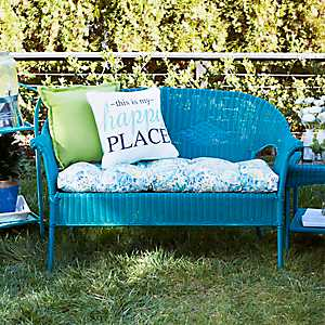 Turquoise Key West Settee