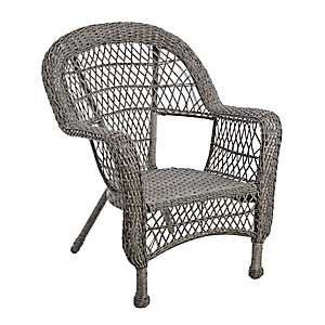Savannah Gray Wicker Chair