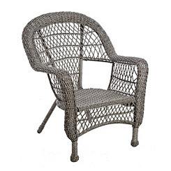 Savannah Gray Wicker Chair