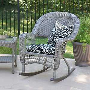 Savannah Gray Wicker Rocker