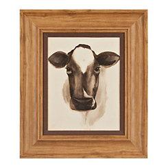 Barnyard Animal Cow II Framed Art Print