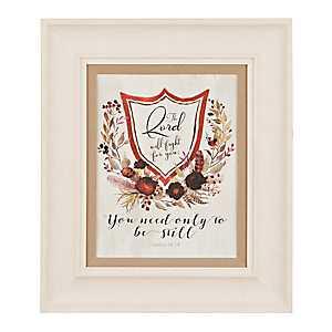 Scripture Crest I Framed Art Print