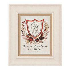 Scripture Crest I Framed Art Print
