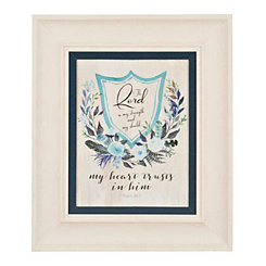 Scripture Crest II Framed Art Print