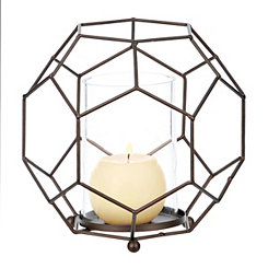 Bronze Honeycomb Sphere Hurricane