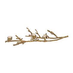 Gold Twig Tealight Candle Holder