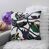 Big Easy Masks Mardi Gras Pillow