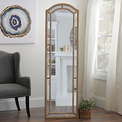 Christa Distressed Cream Cheval Floor Mirror