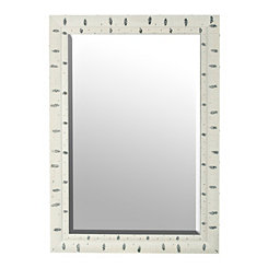 White Birchwood Framed Mirror