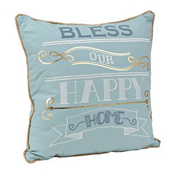 Bless Our Happy Home Pillow