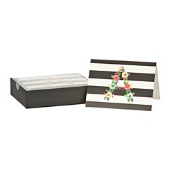 Floral Monogram A Boxed Notecard Set