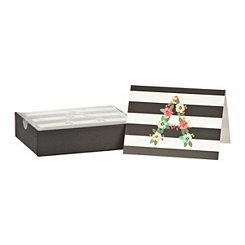 Floral Monogram A Boxed Notecard Set