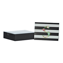Floral Monogram S Boxed Notecard Set