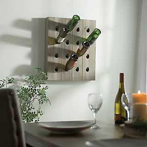 Slatted Wood Wine Bottle Rack