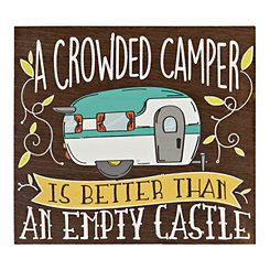 Crowded Camper Wooden Wall Plaque